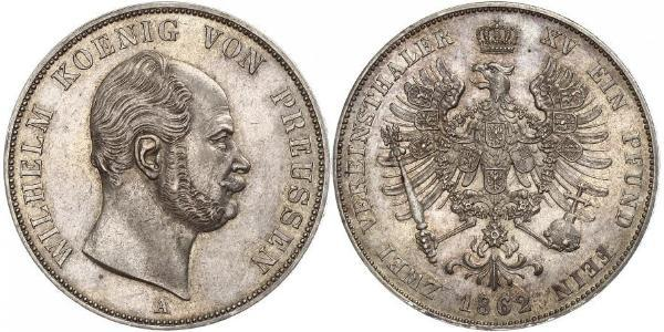 2 Талер Королівство Пруссія (1701-1918) Срібло Wilhelm I, German Emperor (1797-1888)