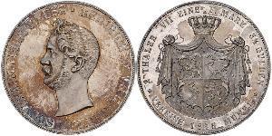 2 Талер Principality of Reuss-Greiz (1778 - 1918) Срібло Heinrich XX, Prince Reuss of Greiz
