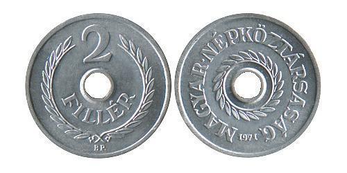 2 Филлер Венгрия (1989 - ) Алюминий