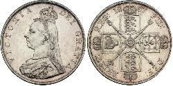 2 Флорин Соединённое королевство Великобритании и Ирландии (1801-1922) Серебро Виктория (1819 - 1901)