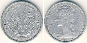 2 Франк Французская Западная Африка (1895-1958) Алюминий