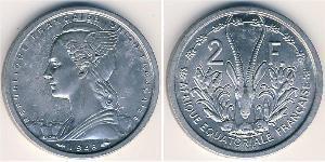 2 Франк French West Africa (1895-1958) Алюміній
