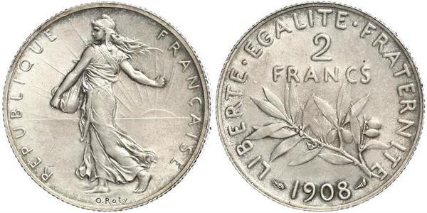 2 Франк Третья французская республика (1870-1940)  Серебро