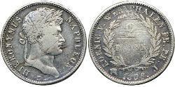 2 Франк Федеральные земли Германии Серебро Наполеон I(1769 - 1821)