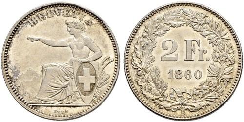 2 Франк Швейцария Серебро