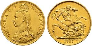 2 Фунт Великобритания  Золото Виктория (1819 - 1901)
