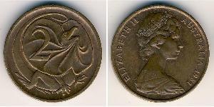 2 Цент Австралія (1939 - ) Бронза Єлизавета II (1926-)