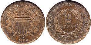 2 Цент США (1776 - ) Цинк/Олово/Медь