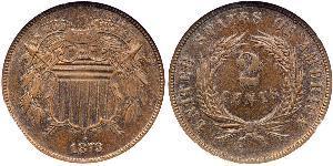 2 Цент США (1776 - ) Цинк/Олово/Мідь