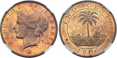 2 Цент Ліберія