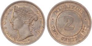 2 Цент Маврикій  Вікторія (1819 - 1901)