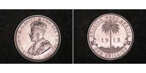 2 Шиллинг Британская Западная Африка (1780 - 1960) Серебро Георг V (1865-1936)