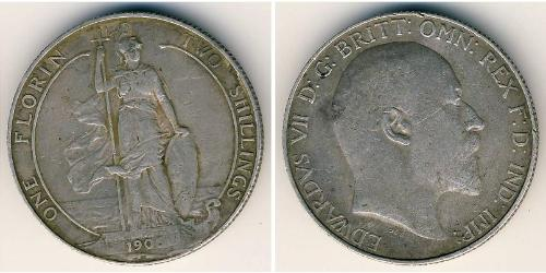 2 Шиллинг Соединённое королевство Великобритании и Ирландии (1801-1922) Серебро Эдуард VII (1841-1910)