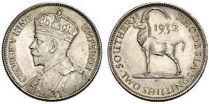 2 Шиллинг Южная Родезия (1923-1980) Серебро Георг V (1865-1936)