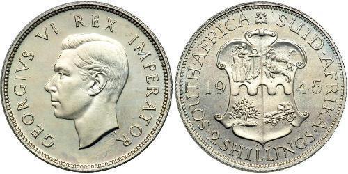2 Шиллинг Южно-Африканская Республика Серебро Георг VI (1895-1952)