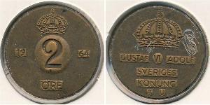 2 Эре Швеция Бронза