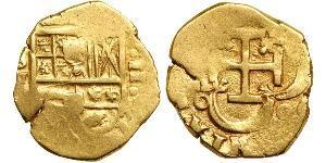 2 Эскудо Габсбургская империя (1526-1804) / Испания Золото Филипп II (король Испании) (1527-1598)