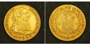 2 Эскудо Перу Золото Карл III король Испании (1716 -1788)
