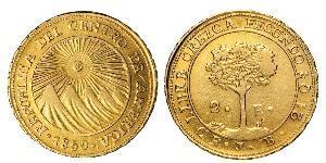 2 Эскудо Соединённые Провинции Центральной Америки (1823 - 1838) / Коста-Рика Золото
