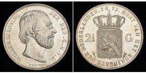 2 1/2 Гульден Королівство Нідерланди (1815 - ) Срібло Віллем III