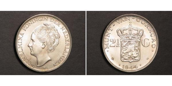 2 1/2 Гульден Королівство Нідерланди (1815 - ) Срібло Вільгельміна (королева Нідерландів)(1880 - 1962)