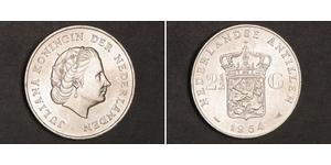 2 1/2 Гульден Нідерландські Антильські острови (1954 – 2010) Срібло Юлиана ,королева Нидерландов (1909 – 2004)