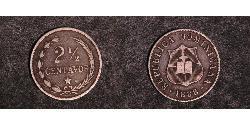 2 1/2 Сентаво Доминиканская Республика Серебро