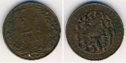 2 1/2 Cent Kingdom of the Netherlands (1815 - ) Bronze