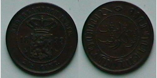 2 1/2 Cent Dutch East India (1800 - 1942) Copper