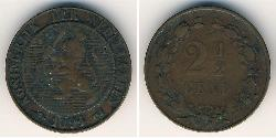 2 1/2 Cent Kingdom of the Netherlands (1815 - ) Copper