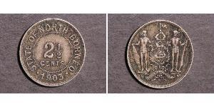 2 1/2 Cent North Borneo (1882-1963) Kupfer/Nickel