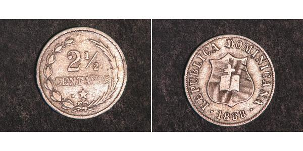 2 1/2 Centavo 多明尼加 銀