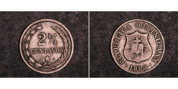 2 1/2 Centavo République dominicaine Argent