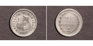 2 1/2 Centavo Repubblica Dominicana Argento