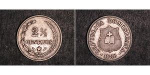 2 1/2 Centavo República Dominicana Plata