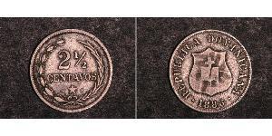 2 1/2 Centavo Dominikanische Republik Silber