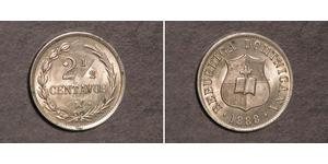 2 1/2 Centavo Dominican Republic Silver