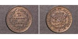 2 1/2 Centime Luxembourg Bronze