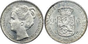 2 1/2 Gulden Royaume des Pays-Bas (1815 - ) Argent Wilhelmine (reine des Pays-Bas)(1880 - 1962)