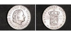 2 1/2 Gulden Antillas Neerlandesas (1954 – 2010) Plata Juliana of the Netherlands (1909 – 2004)