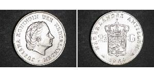 2 1/2 Gulden Antillas Neerlandesas (1954 – 2010) Plata Juliana of the Netherlands (1909 – 2004)