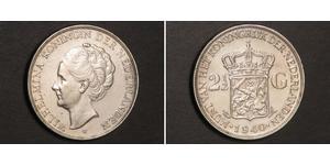 2 1/2 Gulden Kingdom of the Netherlands (1815 - ) Silver Wilhelmina of the Netherlands (1880 - 1962)