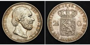 2 1/2 Gulden Kingdom of the Netherlands (1815 - ) Silver William III of the Netherlands