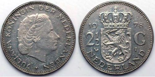 2 1/2 Gulden Kingdom of the Netherlands (1815 - ) Silver Juliana of the Netherlands (1909 – 2004)