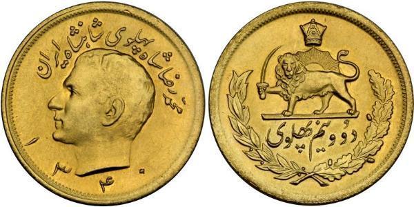 2 1/2 Pahlavi 伊朗 金 穆罕默德-礼萨·巴列维