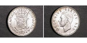2 1/2 Shilling South Africa 銀 乔治六世 (1895-1952)
