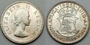 2 1/2 Shilling Afrique du Sud Argent Elizabeth II (1926-)