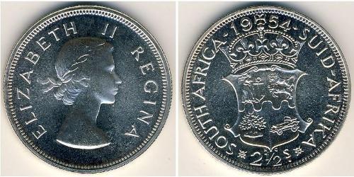 2 1/2 Shilling Sudafrica Argento Elisabetta II (1926-)