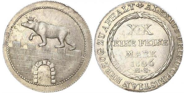 2/3 Талер Ангальт-Бернбург (1603 - 1863) Серебро null