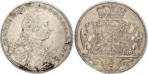 2/3 Талер Ансбах (княжество) (1398–1792) Серебро Charles William Frederick, Margrave of Brandenburg-Ansbach (1712 – 1757)